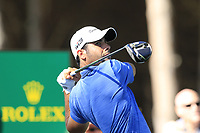 Adrian Otaegui (ESP) tees off the 4th tee during Saturday's Round 3 of the 2018 Turkish Airlines Open hosted by Regnum Carya Golf &amp; Spa Resort, Antalya, Turkey. 3rd November 2018.<br /> Picture: Eoin Clarke | Golffile<br /> <br /> <br /> All photos usage must carry mandatory copyright credit (&copy; Golffile | Eoin Clarke)