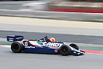 22.04.2012 Barcelona, Spain. GP Masters. Pictures show driver Bill Coombs GBR with Tyrrell 009 at Circuit Catalunya