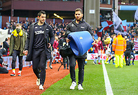 Leeds United staff carry Marcelo Bielsa's bucket seat<br /> <br /> Photographer Alex Dodd/CameraSport<br /> <br /> The EFL Sky Bet Championship - Aston Villa v Leeds United - Sunday 23rd December 2018 - Villa Park - Birmingham<br /> <br /> World Copyright &copy; 2018 CameraSport. All rights reserved. 43 Linden Ave. Countesthorpe. Leicester. England. LE8 5PG - Tel: +44 (0) 116 277 4147 - admin@camerasport.com - www.camerasport.com