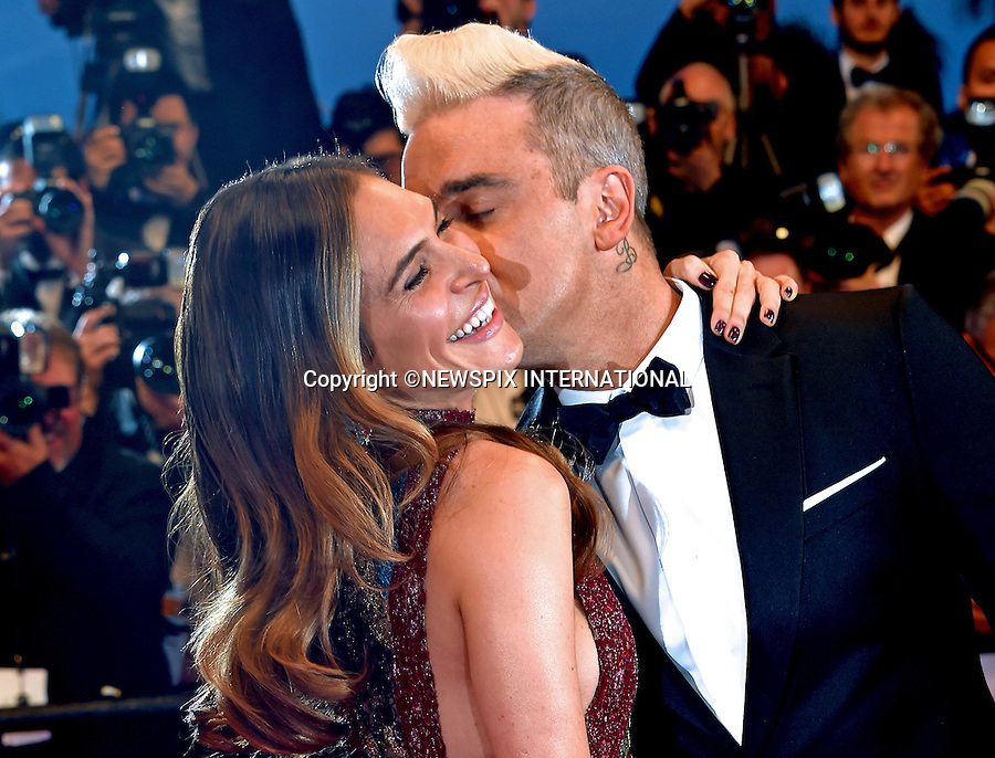 16.05.2015; Cannes France: ROBBIE WILLIAMS AND WIFE AYDA FIELD<br />