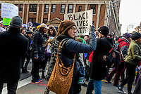 New York, NY - Ten days after a Staten Island Grand Jury failed to indict Police Officer Daniel Pantaleo for killing Eric Garner New Yorkers continue to protest as part of a National Day of Anger against police brutality.