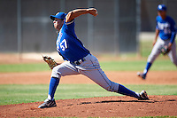 Kansas City Royals minor league pitcher Dylan Sons #57 during an instructional league game against the Seattle Mariners at the Peoria Sports Complex on October 2, 2012 in Peoria, Arizona. (Mike Janes/Four Seam Images)