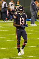 Chicago Bears wide receiver Kendall Wright (13) during a National Football League game against the Green Bay Packers on September 28, 2017 at Lambeau Field in Green Bay, Wisconsin. Green Bay defeated Chicago 35-14. (Brad Krause/Krause Sports Photography)