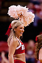 26 November 2011: Nebraska Cornhusker cheerleader cheering during a time out in the game against South Dakota State Jackrabbits at the Devaney Sports Center in Lincoln, Nebraska. Nebraska defeated South Dakota State 76 to 64.