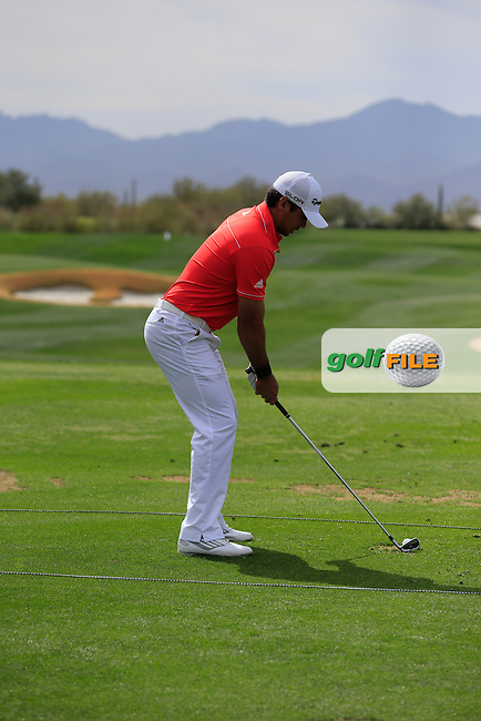 Jason Day (AUS) Swing before the final round at the WGC Accenture Matchplay Championship, Ritz-Carlton GC, Dove Mountain,Tucson, Arizona,USA.<br /> Picture: Fran Caffrey www.golffile.ie