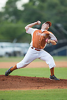 Asheboro Copperheads starting pitcher Austin Staley (22) in action against the High Point-Thomasville HiToms at Finch Field on June 12, 2015 in Thomasville, North Carolina.  The HiToms defeated the Copperheads 12-3. (Brian Westerholt/Four Seam Images)