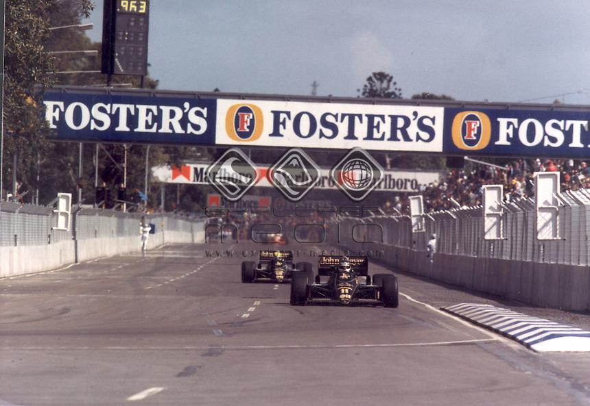 Ayrton Senna (BRA)<br /> Motorsport- F1/ History<br /> 1985 Australian GP/ Adelaide <br /> &copy; Explorer-Media / Australian Sports Archives/Ian Smith