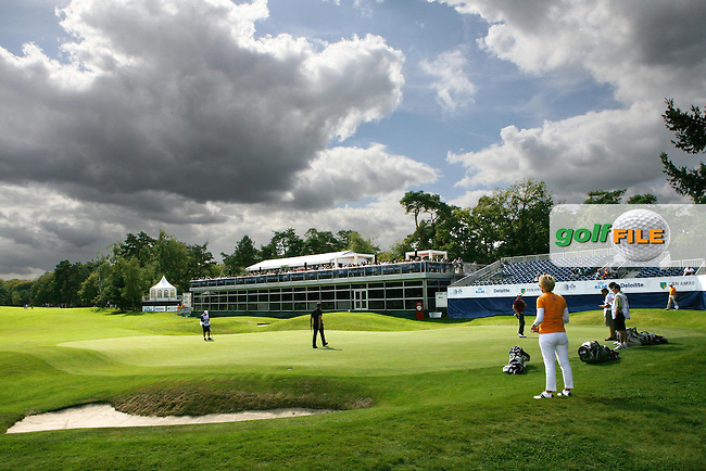 06-09-12 European Tour 2012, KLM Open, Hilversumsche Golf, Hilversum, The Netherlands. 06-09 Sep. The green 18 during the first round. .Picture: golfsupport/golffile.ie.
