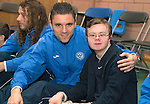 St Johnstone players visit Fairview School in Perth.....19.12.13<br /> Sanil Jahic pictured with Andrew Davies<br /> Picture by Graeme Hart.<br /> Copyright Perthshire Picture Agency<br /> Tel: 01738 623350  Mobile: 07990 594431