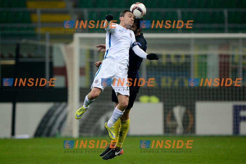 David Lafata Sparta Praga, Andrea Ranocchia Inter<br /> Milano 8-12-2016 Stadio Giuseppe Meazza - Football Calcio Europa League Inter - Sparta Praga. Foto Giuseppe Celeste / Insidefoto
