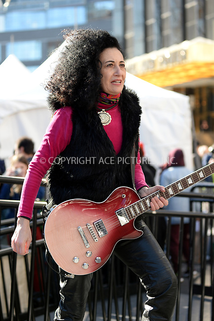 www.acepixs.com<br /> January 20, 2018  New York City<br /> <br /> Cecilia Eljuri on stage at the Women's March on January 20, 2018 in New York City.<br /> <br /> Credit: Kristin Callahan/ACE Pictures<br /> <br /> Tel: 646 769 0430<br /> Email: info@acepixs.com