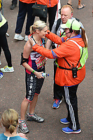 Jenni Falconer at the finish line on The Mall at the 2017 London Marathon, London, UK. <br /> 23 April  2017<br /> Picture: Steve Vas/Featureflash/SilverHub 0208 004 5359 sales@silverhubmedia.com