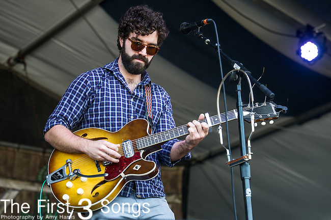 Andrew Duhon performs during the New Orleans Jazz & Heritage Festival in New Orleans, LA.