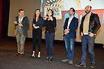 """©www.agencepeps.be - 140219 - F.Andrieu - A.Rolland - Dany Boon et Kad Merad ainsi qu'Alice Pol étaient présent pour la promotion du film """"Supersondriaque"""" à Mons, Tournai, Namur, Bruxelles et Braine-l'Alleud."""