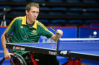 Mark Harris (AUS)<br /> 2013 ITTF PTT Oceania Regional<br /> Para Table Tennis Championships<br /> AIS Arena Canberra ACT AUS<br /> Wednesday November 13th 2013<br /> © Sport the library / Jeff Crow