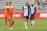 Houston, TX - Saturday July 15, 2017: Morgan Brian and Tori Huster during a regular season National Women's Soccer League (NWSL) match between the Houston Dash and the Washington Spirit at BBVA Compass Stadium.