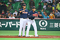 (L to R) .Sho Nakata (JPN), .Atsunori Inaba (JPN), .MARCH 2, 2013 - WBC : .2013 World Baseball Classic .1st Round Pool A .between Japan 5-3 Brazil .at Yafuoku Dome, Fukuoka, Japan. .(Photo by YUTAKA/AFLO SPORT)