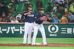 (L to R) .Sho Nakata (JPN), .Atsunori Inaba (JPN), .MARCH 2, 2013 - WBC : .2013 World Baseball Classic .1st Round Pool A .between Japan 5-3 Brazil .at Yafuoku Dome, Fukuoka, Japan. .(Photo by YUTAKA/AFLO SPORT)