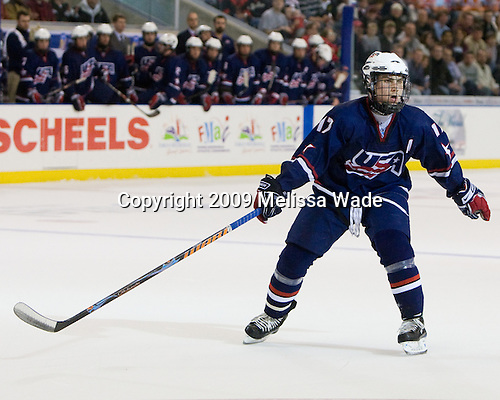 Ryan Bourque (US - 17) - The US defeated Canada 2-1 at the Urban Plains Center in Fargo, North Dakota, on Friday, April 17, 2009, in their semi-final match during the 2009 World Under 18 Championship.