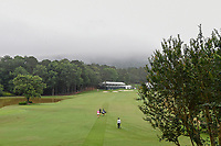 Haru Nomura (JPN), Erica Shepherd (a) (USA), and Luna Sobron Galmes (ESP) make their way down 14 as low clouds roll in over the hills during round 1 of the U.S. Women's Open Championship, Shoal Creek Country Club, at Birmingham, Alabama, USA. 5/31/2018.<br /> Picture: Golffile | Ken Murray<br /> <br /> All photo usage must carry mandatory copyright credit (&copy; Golffile | Ken Murray)