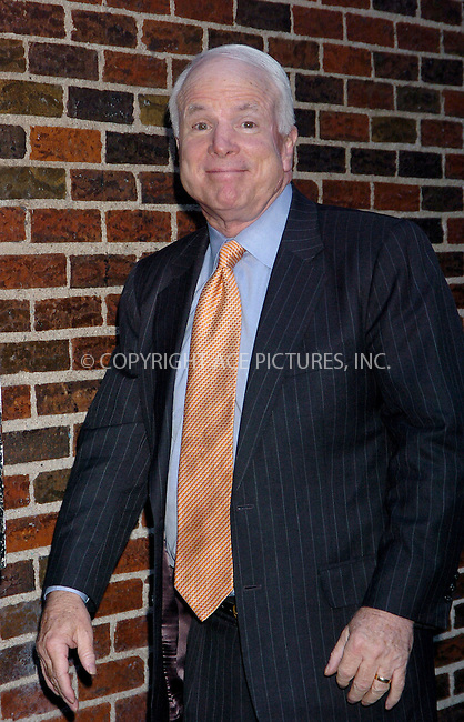 WWW.ACEPIXS.COM . . . . .  ....NEW YORK, FEBRUARY 9, 2006....Senator John McCain stops by for an appearance at the Late Show David Letterman.....Please byline: AJ Sokalner - ACEPIXS.COM.... *** ***..Ace Pictures, Inc:  ..Philip Vaughan (212) 243-8787 or (646) 769 0430..e-mail: info@acepixs.com..web: http://www.acepixs.com