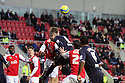 Marcus Haber of Stevenage attempts a header. Rotherham United v Stevenage - FA Cup 1st Round - New York Stadium, Rotherham - 3rd November 2012. © Kevin Coleman 2012.