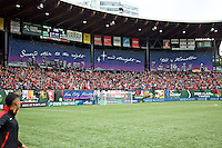 Portland, Oregon - Sunday October 2, 2016: Rose City Riveters tifo during a semi final match of the National Women's Soccer League (NWSL) at Providence Park.