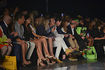 MIAMI, FL - JUNE 01: Babarra Kimpel, Nicole Kimpel, Antonio Banderas and Julio Iranzo sit front row for the Miami Fashion Week Fernando Alberto Atelier Fashion Show at Ice Palace Film Studios on June 01, 2019 in Miami, Florida. ( Photo by Johnny Louis / jlnphotography.com )