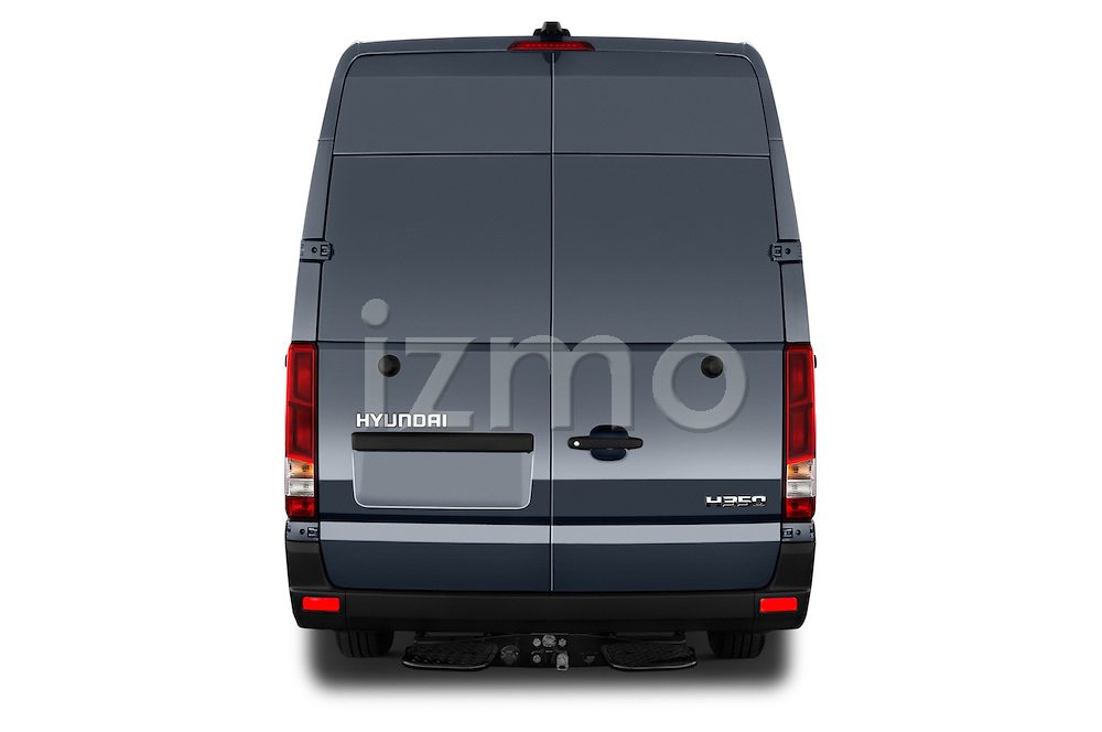 Straight rear view of 2015 Hyundai H350 Travel Plus Pack 4 Door Cargo Van 2WD Rear View  stock images
