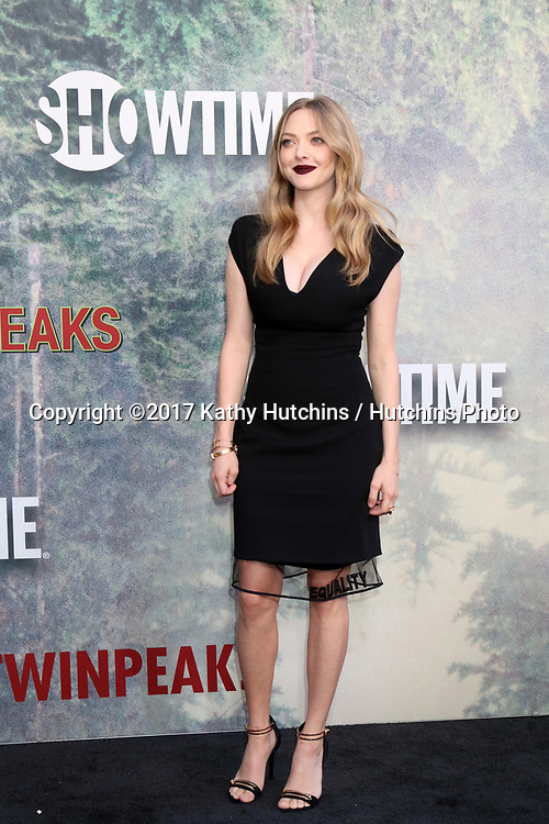 "LOS ANGELES - MAY 19:  Amanda Seyfried at the ""Twin Peaks"" Premiere Screening at The Theater at Ace Hotel on May 19, 2017 in Los Angeles, CA"