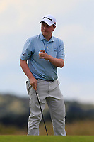 Robert MacIntyre (SCO) on the 3rd green during Round 1 of the Aberdeen Standard Investments Scottish Open 2019 at The Renaissance Club, North Berwick, Scotland on Thursday 11th July 2019.<br /> Picture:  Thos Caffrey / Golffile<br /> <br /> All photos usage must carry mandatory copyright credit (© Golffile | Thos Caffrey)