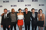 Left to right Jay Harrington, Shemar Moore, Stephanie Sigman, Kenny Johnson, Alex Russell and Lina Esco arrive at the CBS Upfront at The Plaza Hotel in New York City on May 17, 2017.