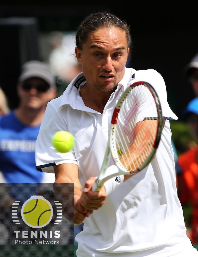 ALEXANDR DOLGOPOLOV (UKR)<br /> <br /> The Championships Wimbledon 2014 - The All England Lawn Tennis Club -  London - UK -  ATP - ITF - WTA-2014  - Grand Slam - Great Britain -  25th. June 2014. <br /> <br /> © J.Hasenkopf / Tennis Photo Network