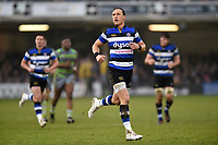 James Wilson of Bath Rugby. Anglo-Welsh Cup match, between Bath Rugby and Newcastle Falcons on January 27, 2018 at the Recreation Ground in Bath, England. Photo by: Patrick Khachfe / Onside Images