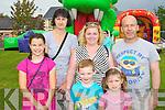 Muireann Ring, Eileen Ring, Carol Spellman, Jack O'Driscoll, Ciara O'Driscoll and James O'Sullivan Firies at the Firies funday on Sunday