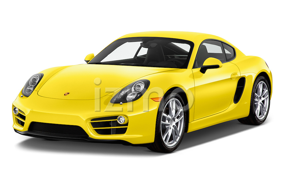 2016 Porsche Cayman 3 Door Coupe Angular Front stock photos of front three quarter view
