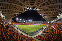 General view of the Stadium during the The Checkatrade Trophy match between Blackpool and Wycombe Wanderers at Bloomfield Road, Blackpool, England on 10 January 2017. Photo by Andy Rowland / PRiME Media Images.