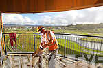 Builder Philip Moriarty, Tralee putting the final touches to the Lee Valley wetlands tourism attraction as it nears completion in Ballyard, Tralee.