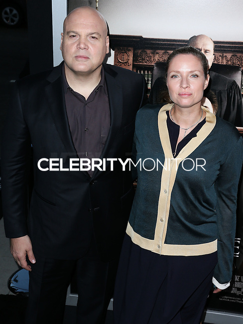 BEVERLY HILLS, CA, USA - OCTOBER 01: Vincent D'Onofrio, Carin van der Donk arrives at the Los Angeles Premiere Of Warner Bros. Pictures And Village Roadshow Pictures' 'The Judge' held at the Samuel Goldwyn Theatre at The Academy of Motion Picture Arts and Sciences on October 1, 2014 in Beverly Hills, California, United States. (Photo by Xavier Collin/Celebrity Monitor)