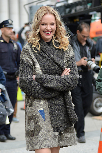 WWW.ACEPIXS.COM<br /> October 14, 2015 New York City<br /> <br /> Katherine Heigl on location filming the TV series 'Doubt' in New York City on October 14, 2015.<br />  <br /> Credit: Kristin Callahan/ACE<br /> <br /> tel: 646 769 0430<br /> Email: info@acepixs.com<br /> www.acepixs.com
