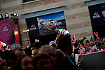 Fabio Aru (ITA) UAE Team Emirates at the Team Presentation before the 101st edition of the Giro d'Italia 2018. Jerusalem, Israel. 3rd May 2018.<br /> Picture: LaPresse/Marco Alpozzi | Cyclefile<br /> <br /> <br /> All photos usage must carry mandatory copyright credit (&copy; Cyclefile | LaPresse/Marco Alpozzi)