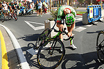 Tom Van Asbroeck (BEL) Cannondale after crossing the finish line of Stage 13 of the 2017 La Vuelta, running 198.4km from Coin to Tomares, Seville, Spain. 1st September 2017.<br />