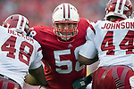 Wisconsin Badgers offensive lineman Ricky Wagner (58) blocks during an NCAA college football game against the Indiana Hoosiers on November 13, 2010 at Camp Randall Stadium in Madison, Wisconsin. The Badgers won 83-20. (Photo by David Stluka)