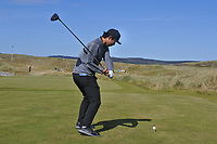 Rak Hyun Cho (KOR) on the 1st tee during Round 1 of the Dubai Duty Free Irish Open at Ballyliffin Golf Club, Donegal on Thursday 5th July 2018.<br /> Picture:  Thos Caffrey / Golffile