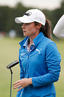 Leona Maguire (Ireland) putts on the 18th hole during the final round of the ShopRite LPGA Classic presented by Acer, Seaview Bay Club, Galloway, New Jersey, USA. 6/10/18.<br /> Picture: Golffile   Brian Spurlock<br /> <br /> <br /> All photo usage must carry mandatory copyright credit (&copy; Golffile   Brian Spurlock)