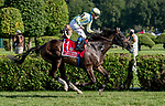 SARATOGA SPRINGS, NY - AUGUST 25: Glorious Empire  #1, ridden by jockey Julien Leparoux, wins the Sword Dancer Srakes on Travers Stakes Day at Saratoga Race Course on August 25, 2018 in Saratoga Springs, New York. (Photo by Rob Simmons/Eclipse Sportswire/Getty Images)