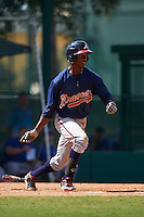 Atlanta Braves Justin Ellison (9) during an instructional league game against the Toronto Blue Jays on September 30, 2015 at the ESPN Wide World of Sports Complex in Orlando, Florida.  (Mike Janes/Four Seam Images)