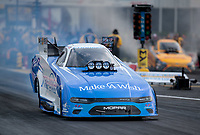 Apr 12, 2019; Baytown, TX, USA; NHRA funny car driver Tommy Johnson Jr during qualifying for the Springnationals at Houston Raceway Park. Mandatory Credit: Mark J. Rebilas-USA TODAY Sports