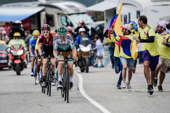Emanuel Buchmann (GER) Bora-Hansgrohe climbing hard during Stage 20 of the 2019 Tour de France running 59.5km from Albertville to Val Thorens, France. 27th July 2019.<br /> Picture: ASO/Pauline Ballet | Cyclefile<br /> All photos usage must carry mandatory copyright credit (© Cyclefile | ASO/Pauline Ballet)