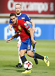 Spain's Koke Resurreccion (f) and Liechtenstein's Martin Buchel during FIFA World Cup 2018 Qualifying Round match. September 5,2016.(ALTERPHOTOS/Acero)
